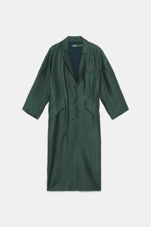 Zara green coat