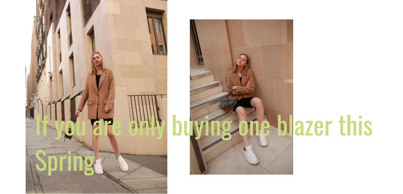 Beige Long-Line Blazer 2019