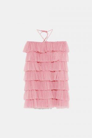 Ruffle Pink Dress